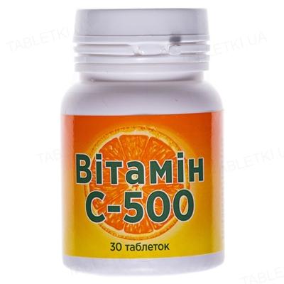 Витамин С-500 Красота и Здоровье таблетки №30