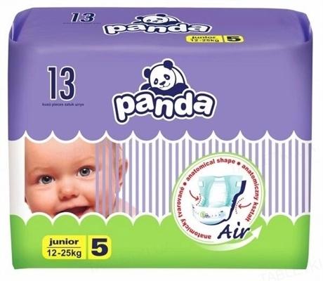 Подгузники детские Panda junior, размер 5, вес 12-25 кг, 13 штук