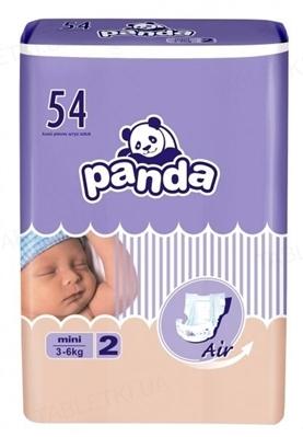 Подгузники детские Panda mini, размер 2, вес 2-6 кг, 54 штуки