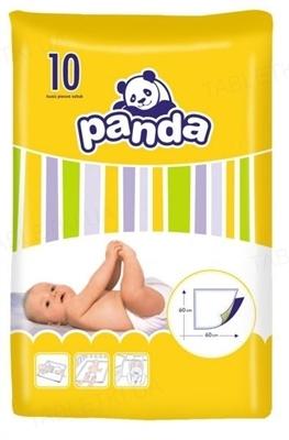 Пеленки детские Panda 60х60 см, 10 штук