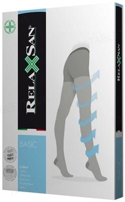 Колготки компрессионные Relaxsan Basic 880 компрессия 18-22 мм рт. ст., 140 den, цвет черный, размер 5