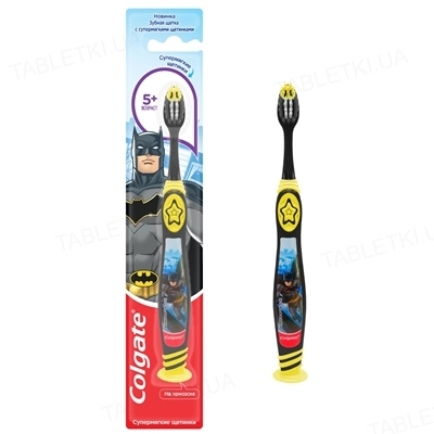 Зубная щетка Colgate Smiles Barbie/Batman/Человек-паук, детская, 1 штука