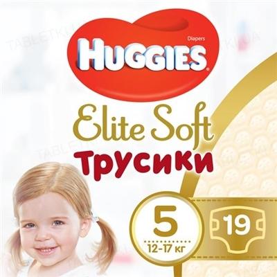 Трусики-подгузники детские Huggies Elite Soft Pants XL, размер 5, 12-17 кг, 19 штук