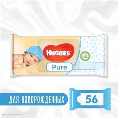 Детские влажные салфетки Huggies Pure, 56 штук