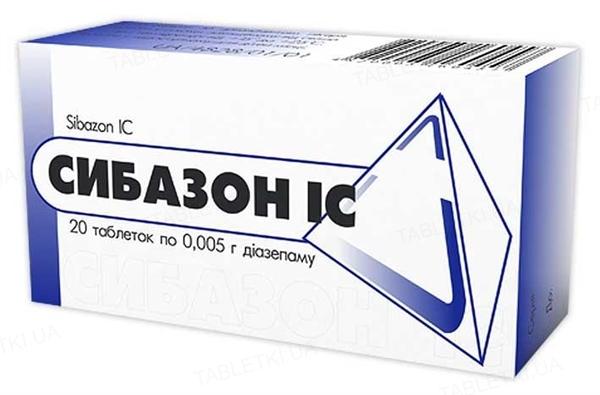 Сибазон IC таблетки по 0.005 г №20 (10х2)