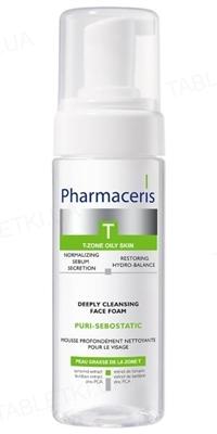 Пенка для умывания Pharmaceris T Puri-Sebostatic глубоко очищающая для лица, восстанавливает гидробаланс, 150 мл