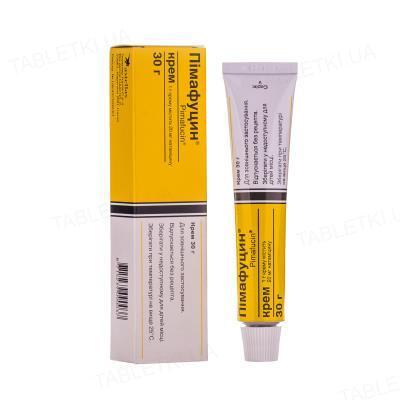 Пімафуцин крем 20 мг/г по 30 г у тубах