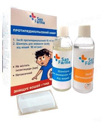 Набор San Farma противопедикулезный (средство+шампунь д/смывания)