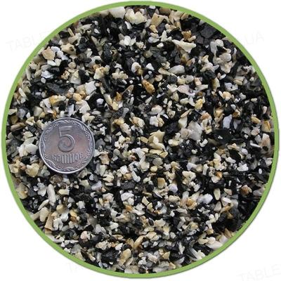 Грунт для аквариума Nechay ZOO черный-белый мелкий, 2 кг