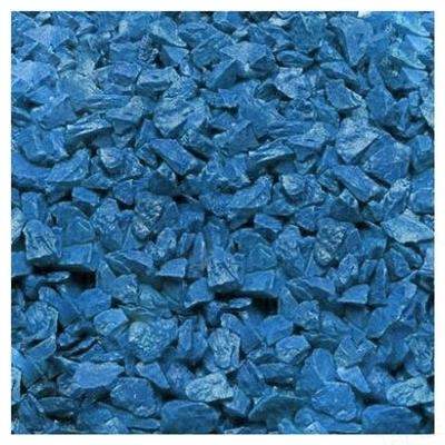 Грунт для аквариума Zeta средний (5-10 мм), голубой, 1 кг