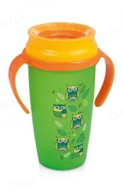 Чашка Lovi 360 Folky с ручками, для мальчика, 1/563new, 350 мл