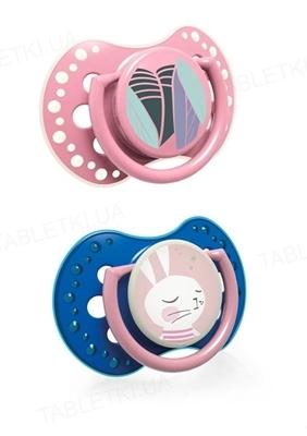 Пустышка силиконовая динамическая Lovi Follow the rabbit, 22/859girl, 3-6 месяцев, 2 шт