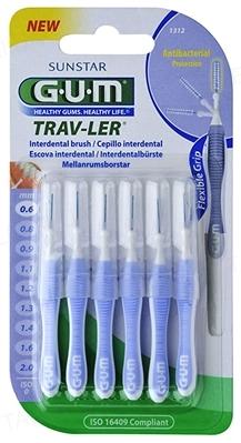 Интердентальные щетки GUM TravLer, 0,6 мм, 6 штук