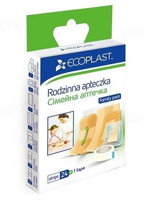 Набор пластырей медицинских Ecoplast Family pack (Семейная аптечка), 25 штук