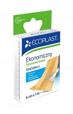 Пластырь медицинский Ecoplast EcoCotton L тканый экономичный, 6 см x 1 м