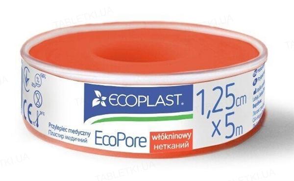Пластырь медицинский Ecoplast EcoPore (ЭкоПор) на нетканой основе 1,25 см x 5 м, в пластик. катушке