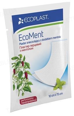 Пластырь перцовый Ecoplast EcoMent с ментолом перфорированный, 10 см x 15 см, 1 штука