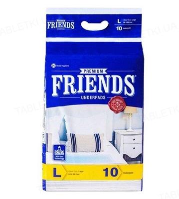 Пеленки гигиенические FRIENDS Premium 60 х 90 см, 10 штук