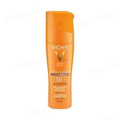 Спрей солнцезащитный Vichy Ideal Soleil для тела, Идеальный загар SPF50+, 200мл