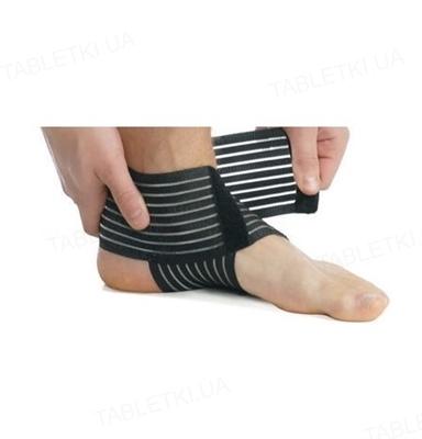Бандаж на голеностопный сустав Медтекстиль 7011 эластичный, цвет черный, размер L