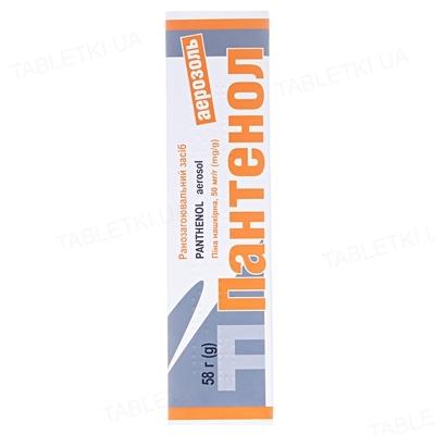 Пантенол аэрозоль пена н/к 50 мг/г по 58 г в конт.