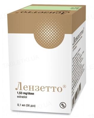 Лензетто спрей трансдерм., р-н 1.53 мг/дозу по 6,5 мл (56 доз) у флак. з доз. насос.-розпил.
