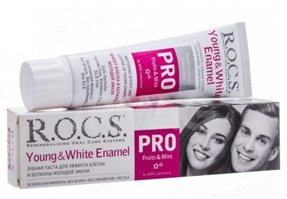 Зубная паста R.O.C.S. Pro Young and White Enamel, 135 г