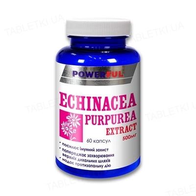 Эхинацеи пурпурной экстракт POWERFUL капсулы по 1,0 г (500 мг экстракта) №60 в бан.