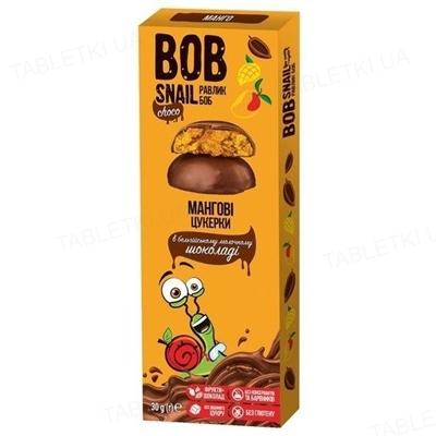 Конфеты Bob Snail Choko Манго в бельгийском молочном шоколаде, 30 г