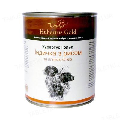 Консерва для собак Hubertus Gold с индейкой и рисом, 800 г