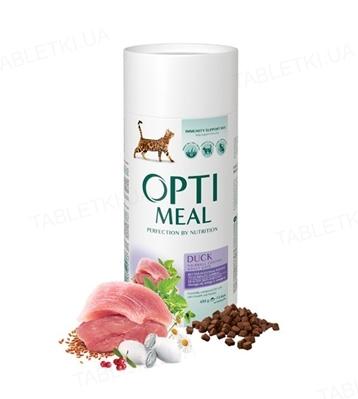 Корм сухой для кошек Optimeal с эффектом выведения шерсти, утка, 650 г