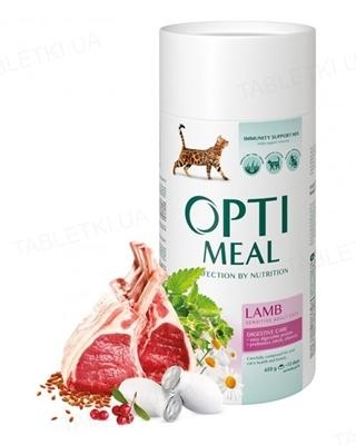 Корм сухой для кошек Optimeal с чувствительным пищеварением, ягненок, 650 г