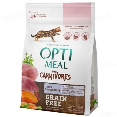Корм сухой беззерновой для кошек Optimeal утка и овощи, 300 г