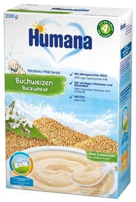 Сухая молочная каша Humana гречневая для детей с 6 месяцев, 200 г