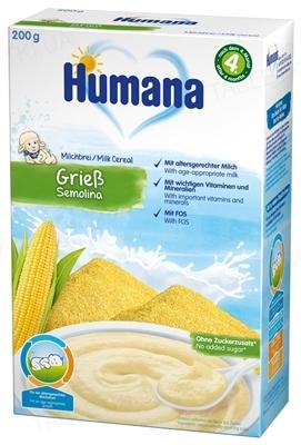 Сухая молочная каша Humana кукурузная для детей с 6 месяцев, 200 г