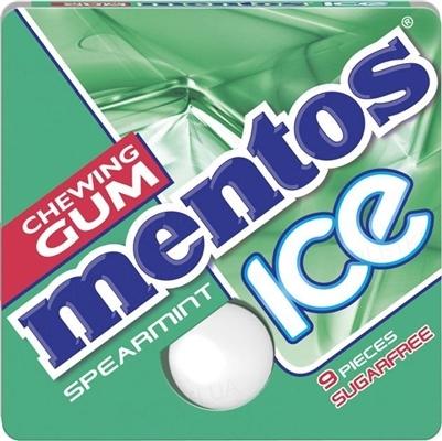 Жувальна гумка Mentos Ice Spearmint без цукру Солодка М'ята, 12,9 г