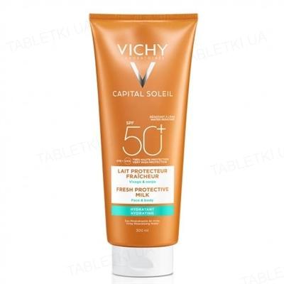 Молочко солнцезащитное Vichy Capital Soleil увлажняющее для лица и тела, SPF 50+, 300 мл
