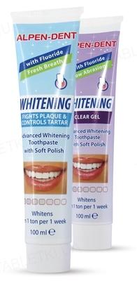 Набір Alpen-Dent, зубна паста проти зубного нальоту і гель прозорий відбілюючий