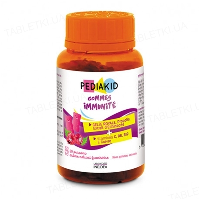 Педиакид PEDIAKID Ведмежуйки Иммунитет жевательные таблетки №60 во флак.