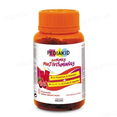 Педиакид PEDIAKID Ведмежуйки Мультивитамины жевательные таблетки №60 во флак.
