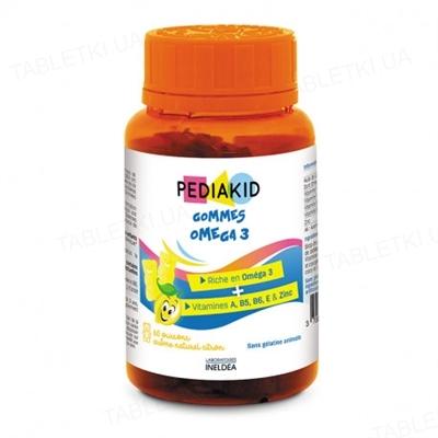 Педиакид PEDIAKID Ведмежуйки Омега-3 жевательные таблетки №60 во флак.