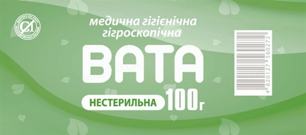 Вата нестерильная Экобинт медицинская гигроскопическая, ролик, 100 г