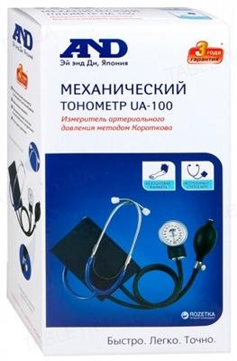 Тонометр AND UA-100 механический со встроенным стетоскопом
