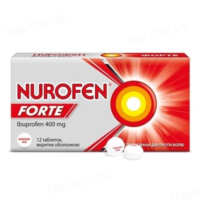 Нурофєн форте таблетки, в/о по 400 мг №12