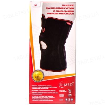Бандаж на коленный сустав ReMed R6202 со спиральными ребрами жесткости, размер M