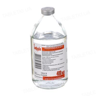 Глюкоза раствор д/инф. 10 % по 400 мл в бутыл.