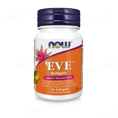 Диетическая добавка NOW EVE woman's комплекс для женщин капсулы мягкие №30