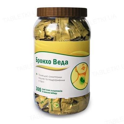 Бронхо Веда Леденцы со вкусом имбиря №300 в бан. в упак. инд.
