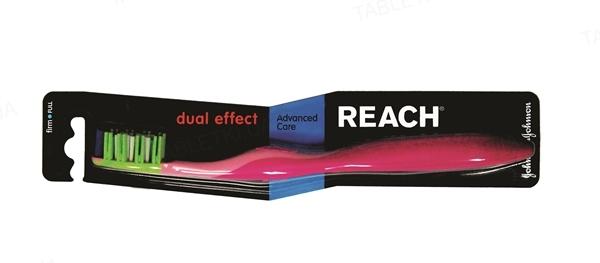 Зубная щетка Reach Dual Effect, жесткая, 1 штука