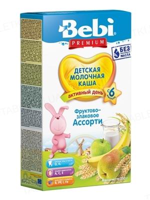 Сухая молочная каша Bebi Premium Фруктово-злаковое ассорти, 250 г